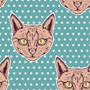 papel-de-parede-adesivo-retro-quarto-gatos-bolinhas-poa