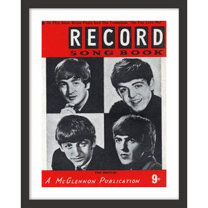 QUADRO-DECORATIVO-RETRO-PRETO-E-BRANCO-HALL-BEATLES-REVISTA