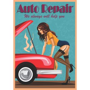QUADRO-DECORATIVO-RETRO-SALA-DE-ESTAR-AUTO-REPAIR