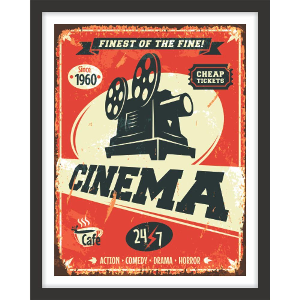 f8f383ce5 Quadro Decorativo Retrô Sala De Estar Pop Art Cinema Antigo ...