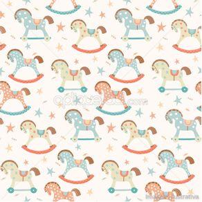 gy328_papel-de-parede-adesivo-infantil-cavalinhos