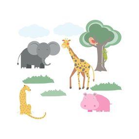 8298a2f56 Adesivo De Parede Infantil Sala Quarto Girafa Gira 1