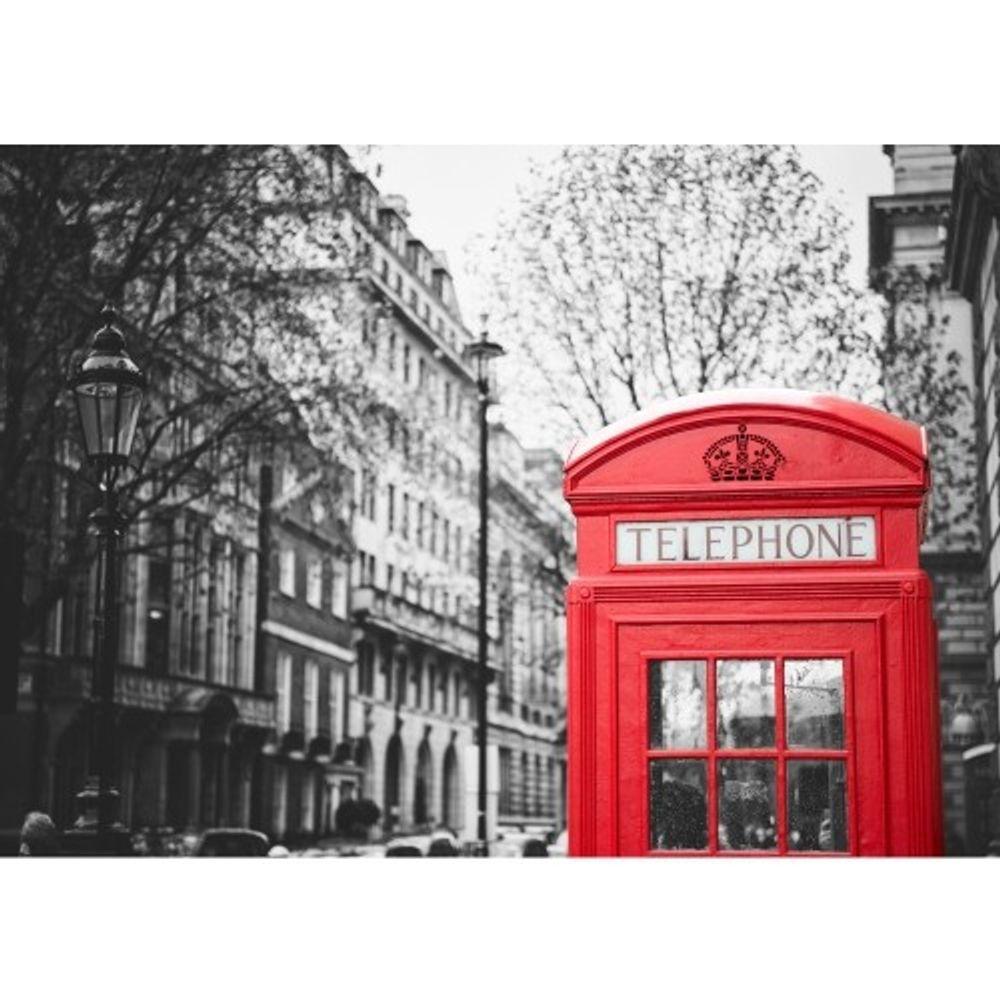 fee05d78c Painel Fotográfico De Cidade Londres Cabine Telefônica Vermelha ...