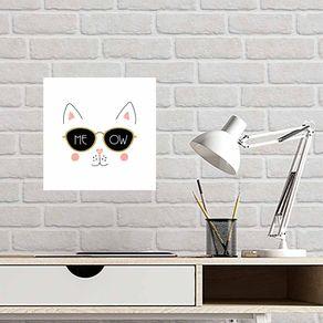 Quadro-Decorativo-Gato-Meow
