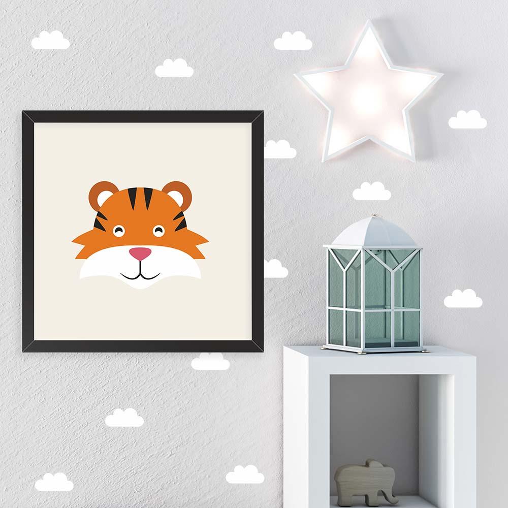 Quadro Infantil Decorativo Tigre Zoo Defacile