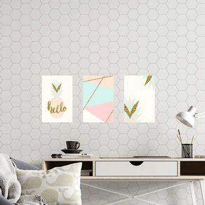 Kit-3-Quadros-Decorativos-Hello-Abacaxi-Abstrato