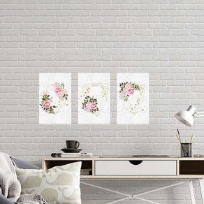 Kit-3-Quadros-Decorativos-Floral-Rosas