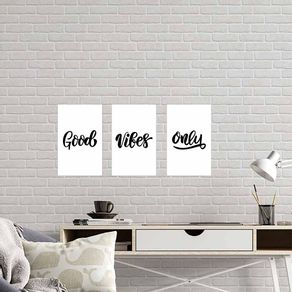 Kit-3-Quadros-Decorativos-Good-Vibes-Only