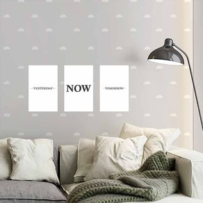 Kit-3-Quadros-Decorativos-Yesterday-Now-Tomorrow