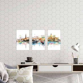 Kit-3-Quadros-Decorativos-Pintura-Aquarela-Cidade